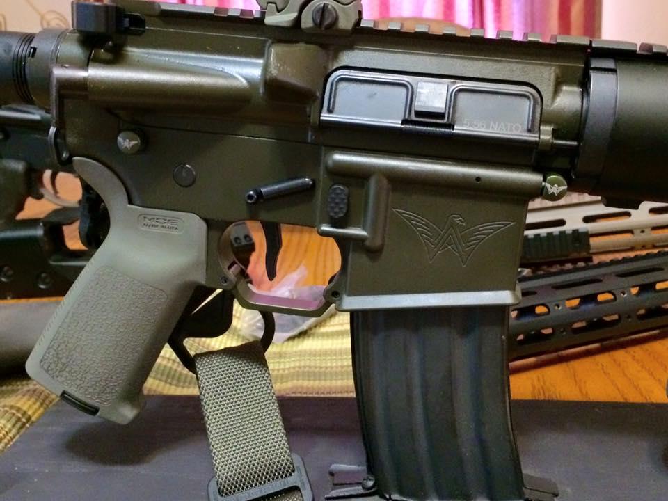 green cerakoted Walden Arms rifle